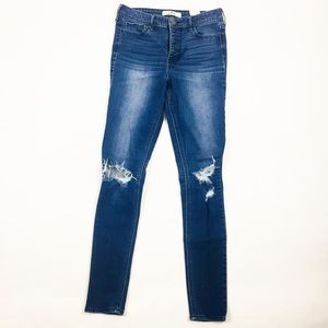 Women's Hollister High Rise Dark Skinny Jeans